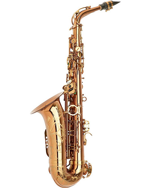 Allora Chicago Jazz Alto Saxophone AAAS-954 - Dark Gold Lacquer Side