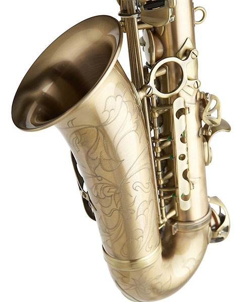 Allora Paris Series Professional Alto Saxophone Antique Matte - AAAS-807 Closeup
