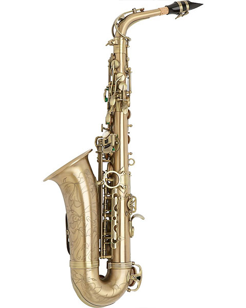 Allora Paris Series Professional Alto Saxophone Antique Matte - AAAS-807 Side