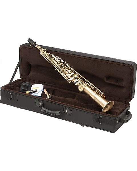Allora Paris Series Professional Straight Soprano Saxophone with 2 Necks AASS-807 - Antique Matte Finish Case