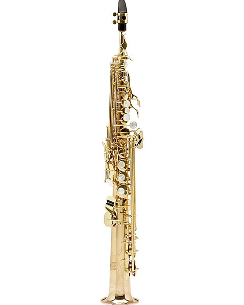 Allora Paris Series Professional Straight Soprano Saxophone with 2 Necks AASS-801 - Lacquer