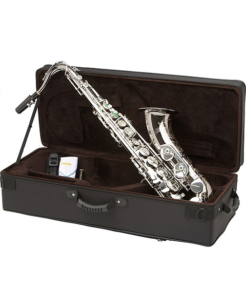 Allora Paris Series Professional Tenor Saxophone AATS-805 - Black Nickel Body - Silver Plated Keys Case