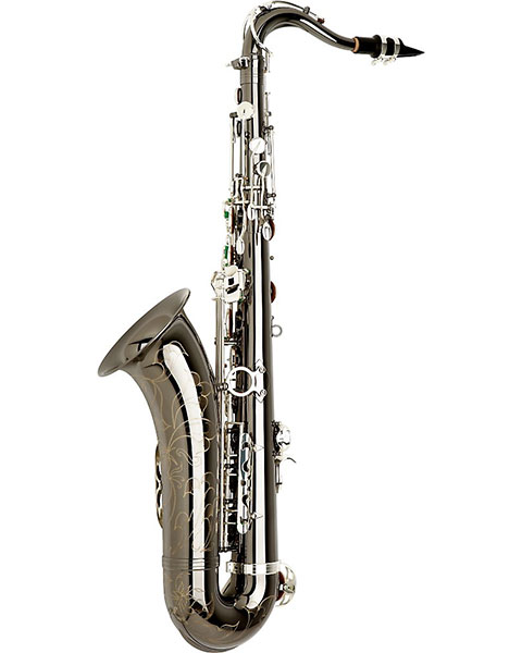 Allora Paris Series Professional Tenor Saxophone AATS-805 - Black Nickel Body - Silver Plated Keys Side