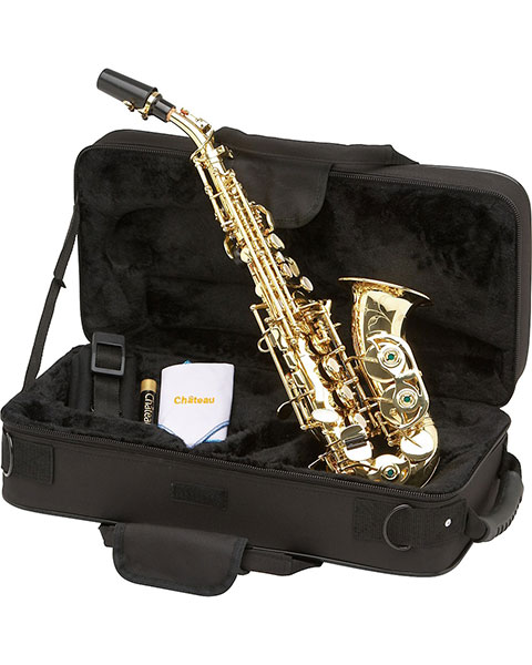 Allora Vienna Series Intermediate Curved Soprano Saxophone AASC-503 - Lacquer Case