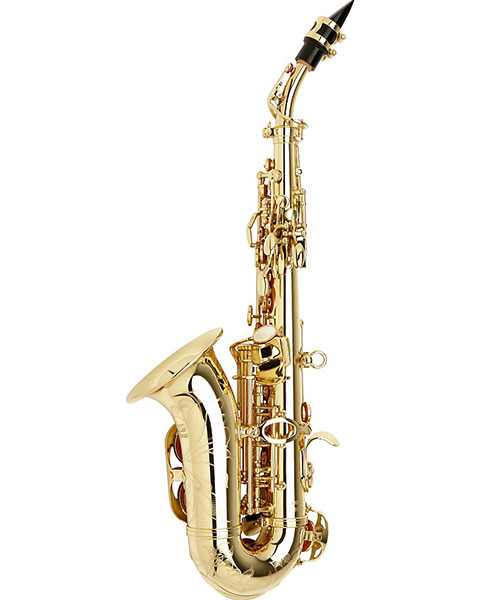 Allora Vienna Series Intermediate Curved Soprano Saxophone AASC-503 - Lacquer Side