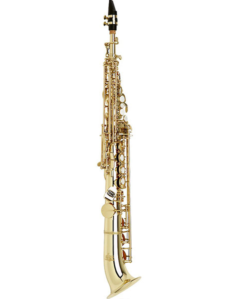 Allora Vienna Series Intermediate Semi-Curved Soprano Saxophone AASS-501 - Lacquer