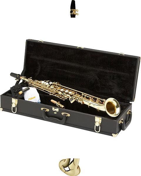 Allora Vienna Series Intermediate Semi-Curved Soprano Saxophone AASS-501 - Lacquer Case