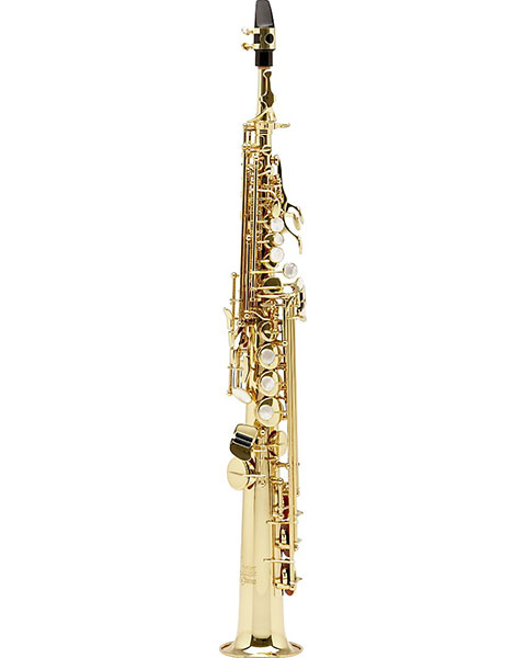 Allora Vienna Series Intermediate Straight Soprano Saxophone with Two Necks AASS-502 - Lacquer