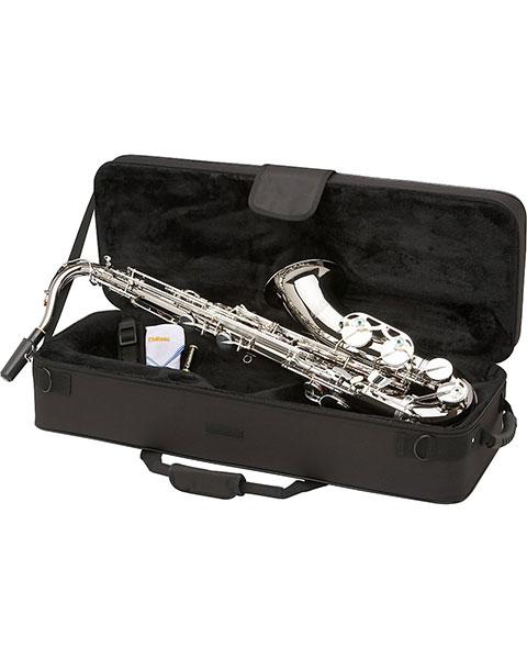 Allora Vienna Series Intermediate Tenor Saxophone AATS-505 - Black Nickel Body - Silver Plated Keys Case